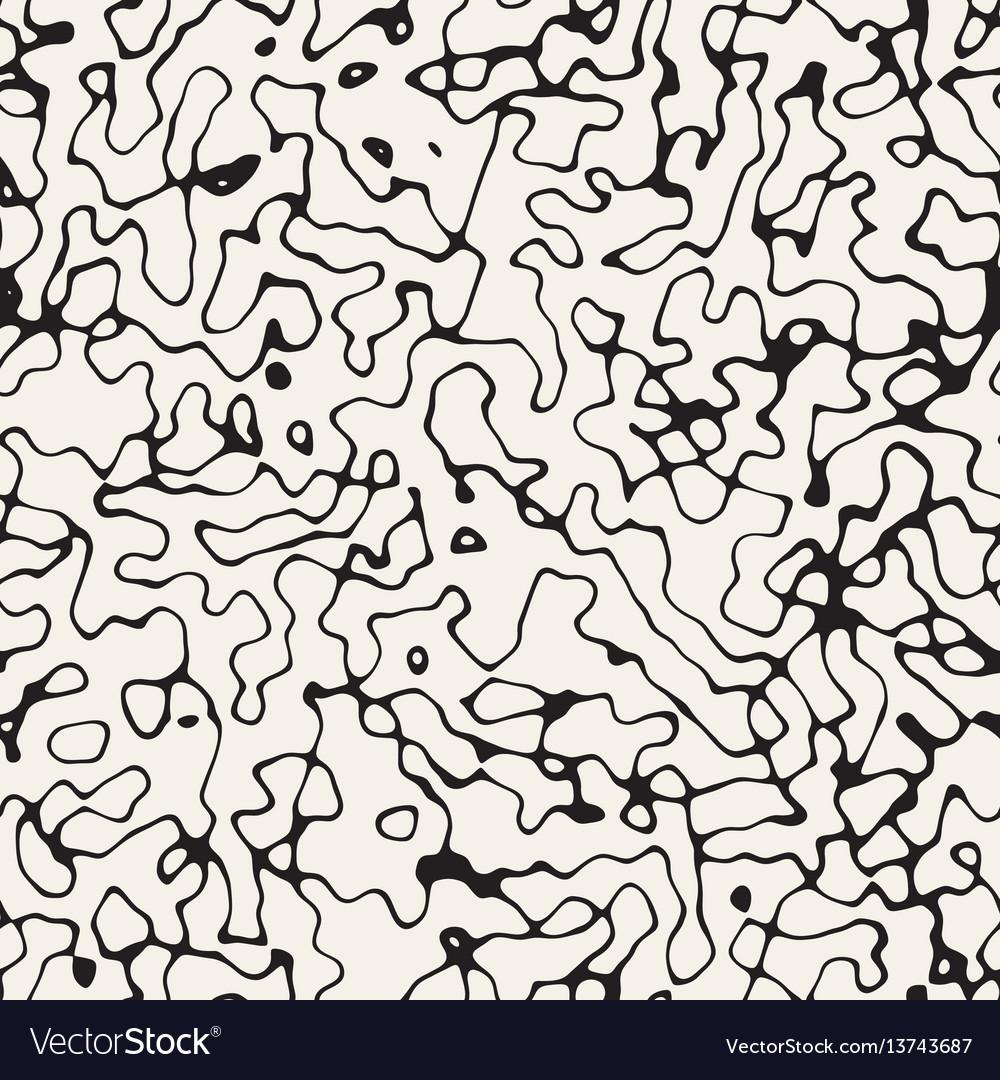 Retro grungy noise texture seamless black vector image