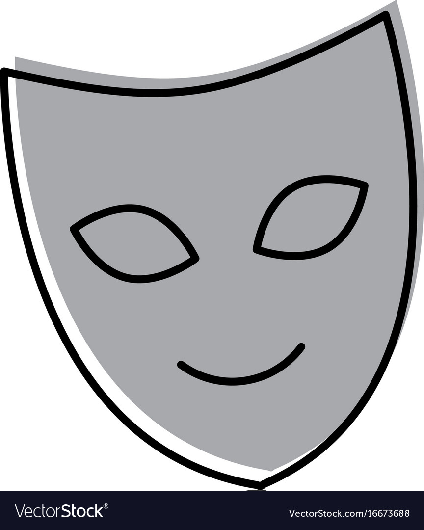 Theater mask isolated icon vector image