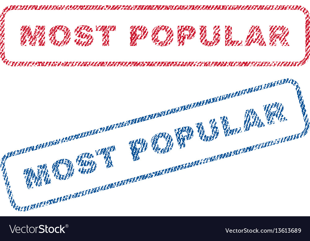 Most popular textile stamps vector image