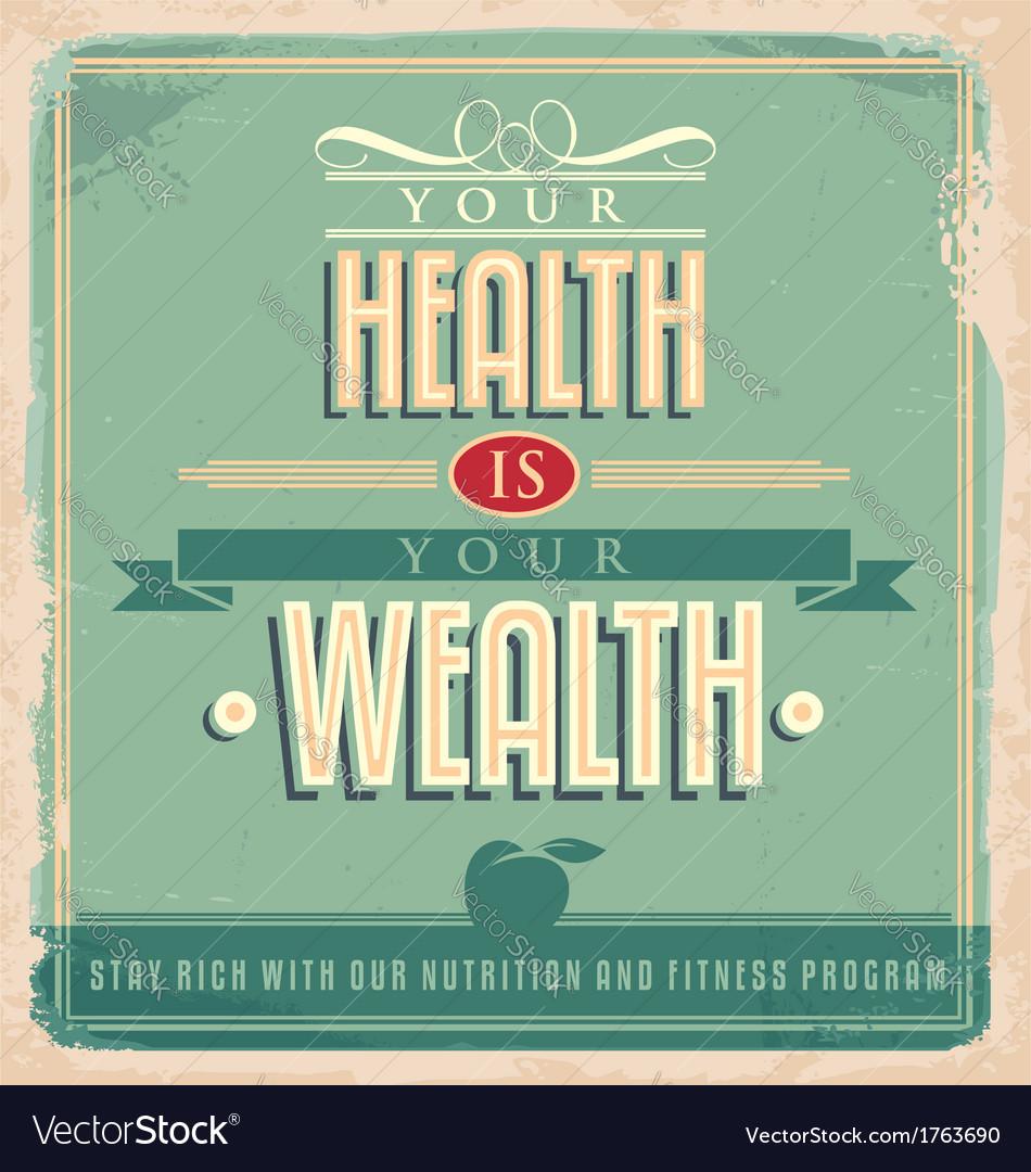 Poster design vintage - Vintage Poster Design With Motivational Message Vector Image