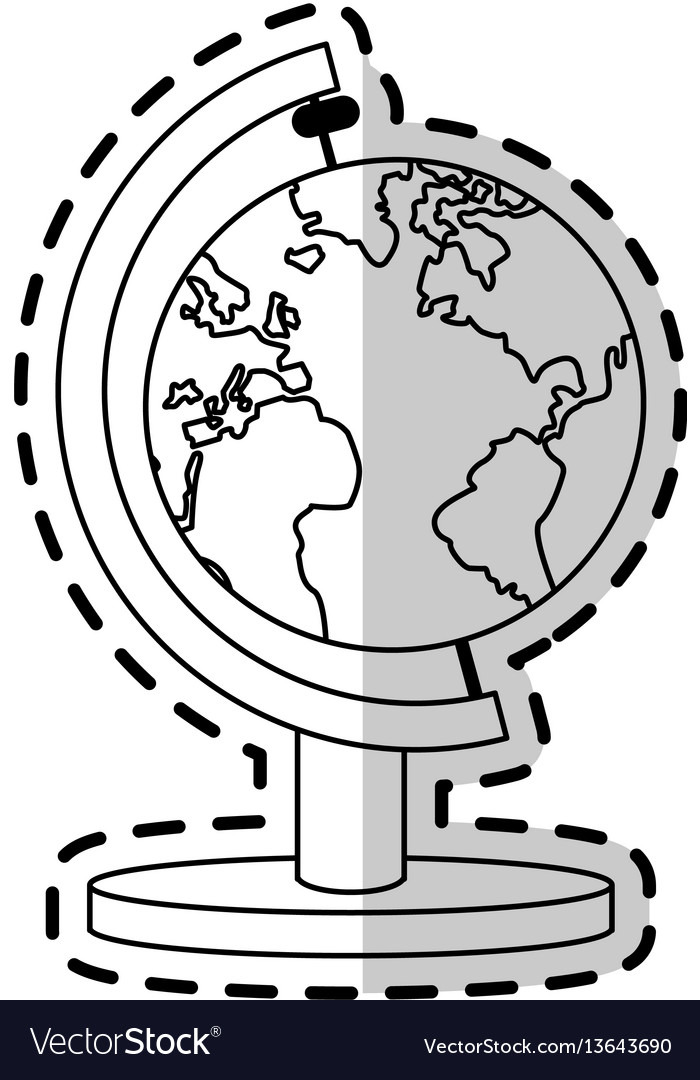 Earth map icon image vector image