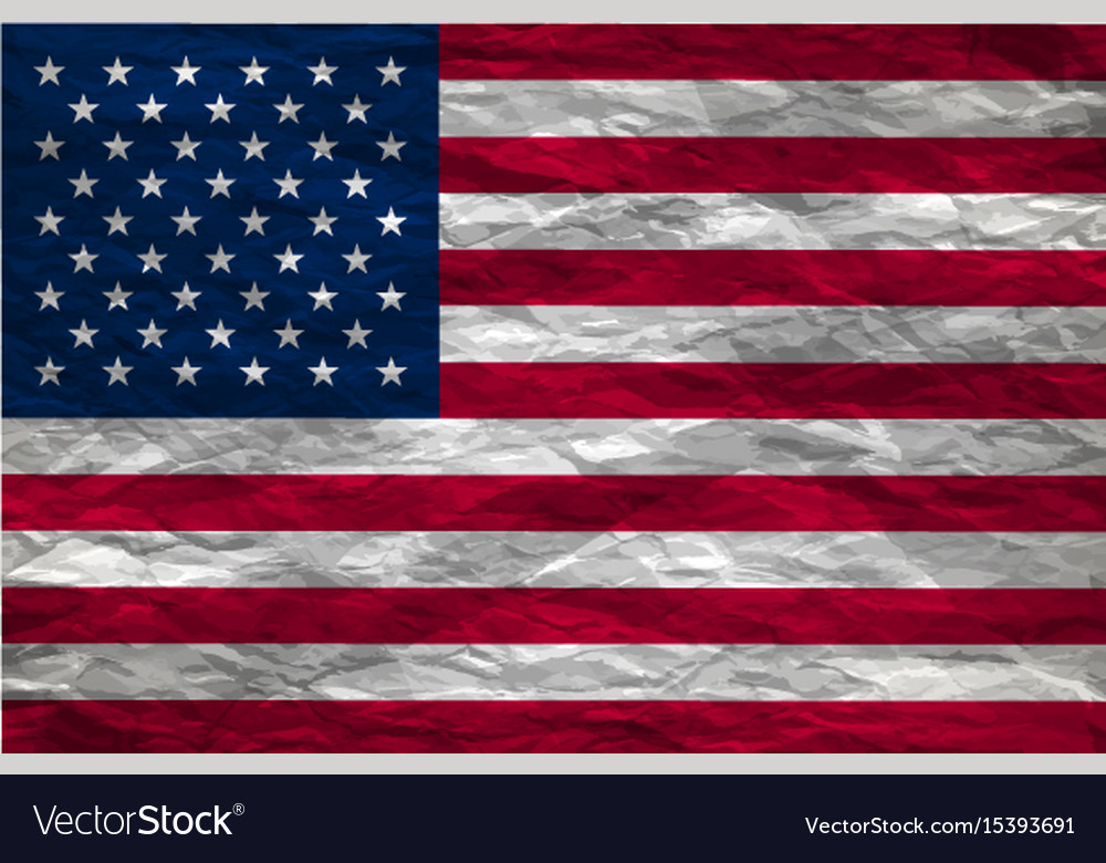 Image of american flag background vector image