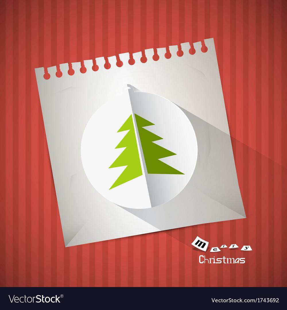 Retro Christmas Background vector image
