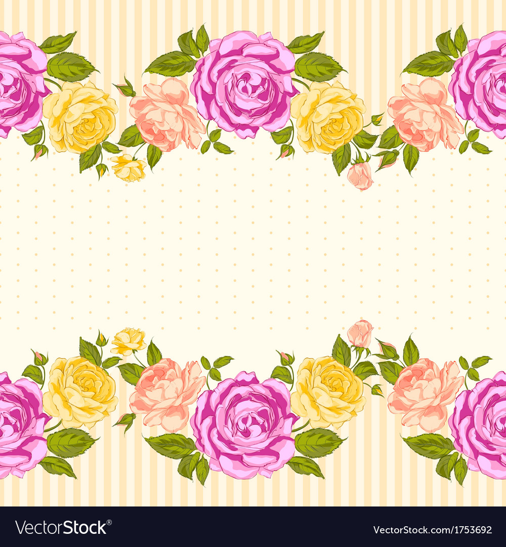 Rose frame invitation card royalty free vector image rose frame invitation card vector image stopboris Image collections