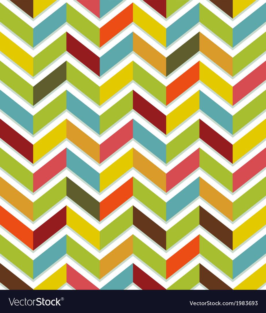Colorful chevron seamless vector image