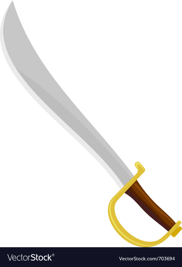 Pirate sabre vector image