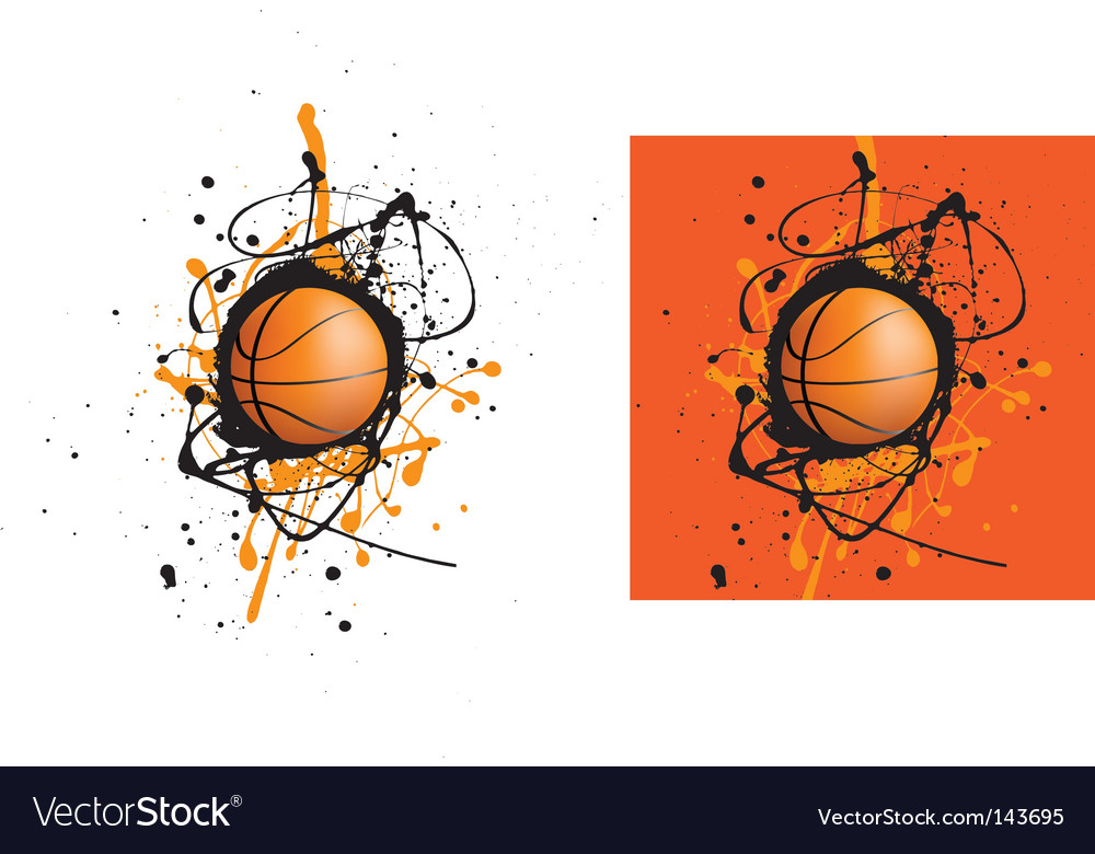 Basketball splat vector image