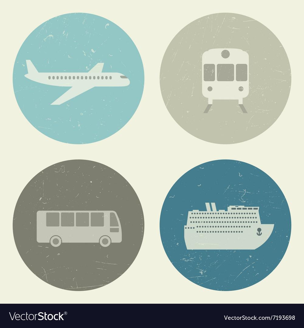 Transport grunge icons