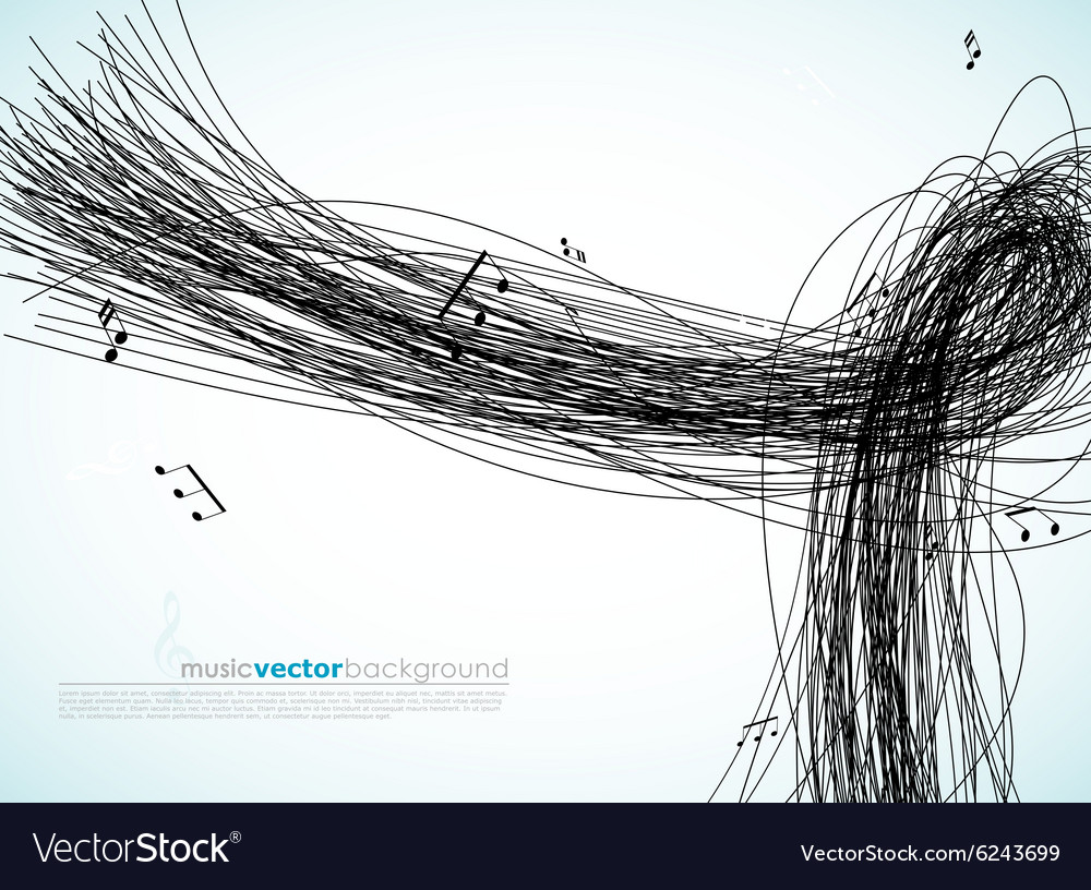 With Lines And Tunes Vector Image