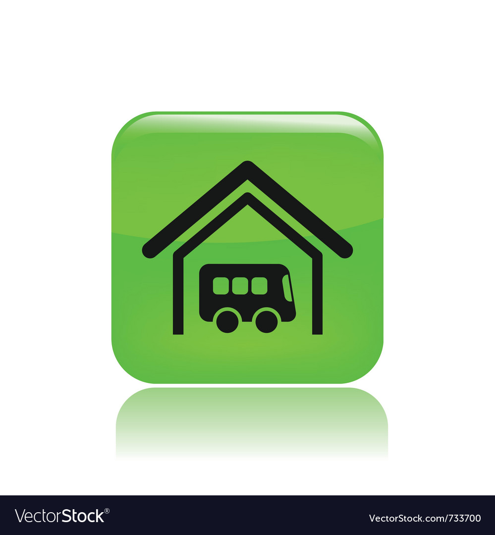 Bus stop icon vector image