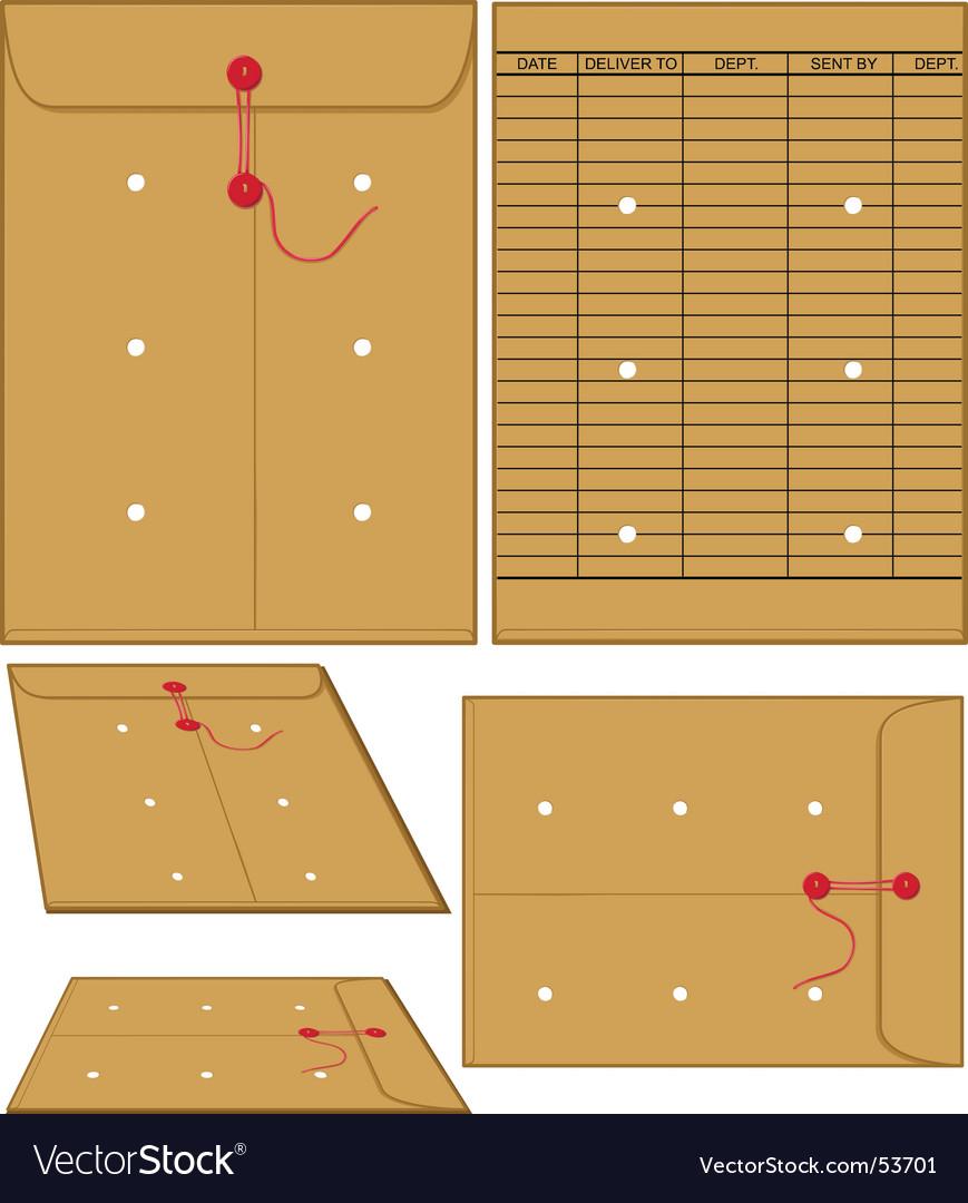 Manila envelopes vector image