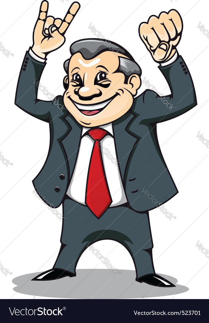 Businessman with muscles vector image