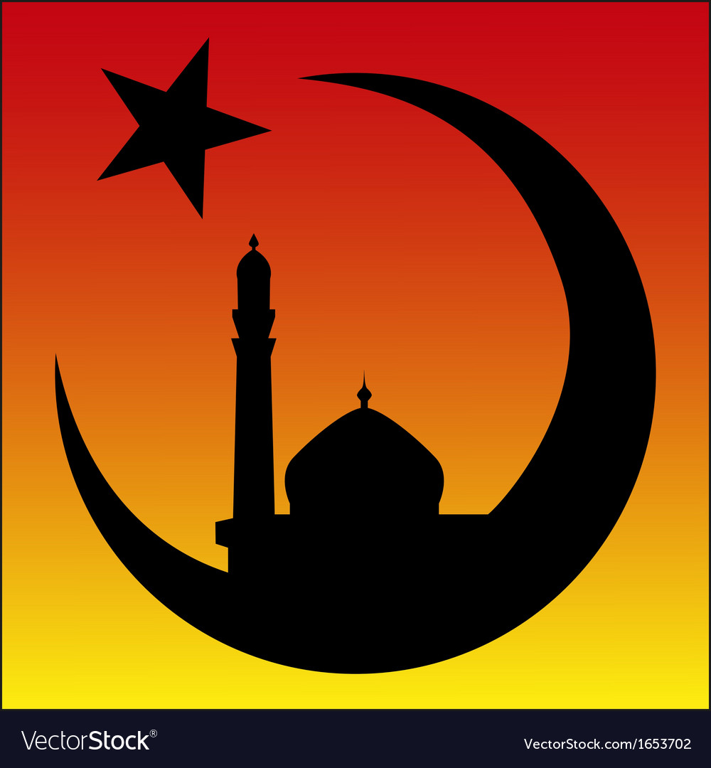 Arabesque sunrise and mosque symbol of islam vector image buycottarizona Gallery
