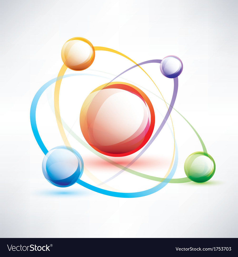 Atom structure abstract glossy icon royalty free vector atom structure abstract glossy icon vector image ccuart Gallery