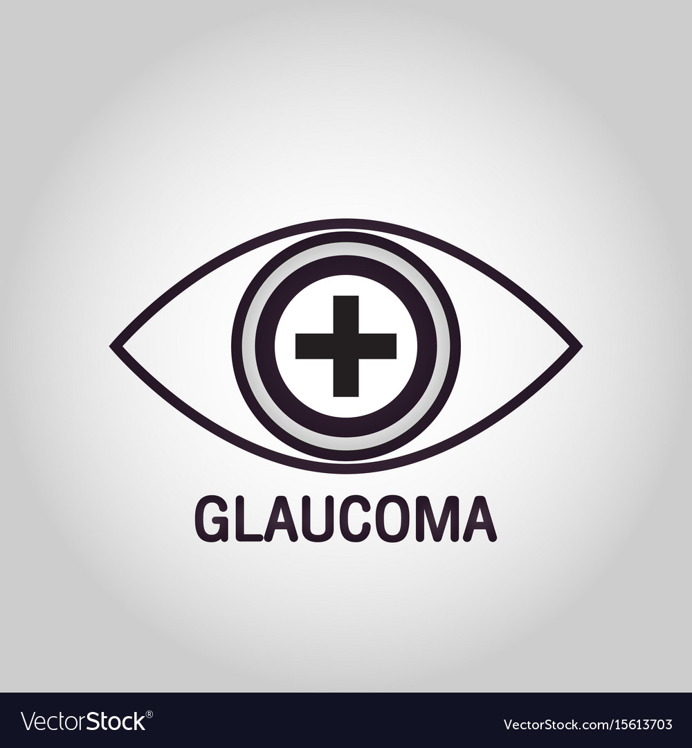 Glaucoma logo icon design vector image