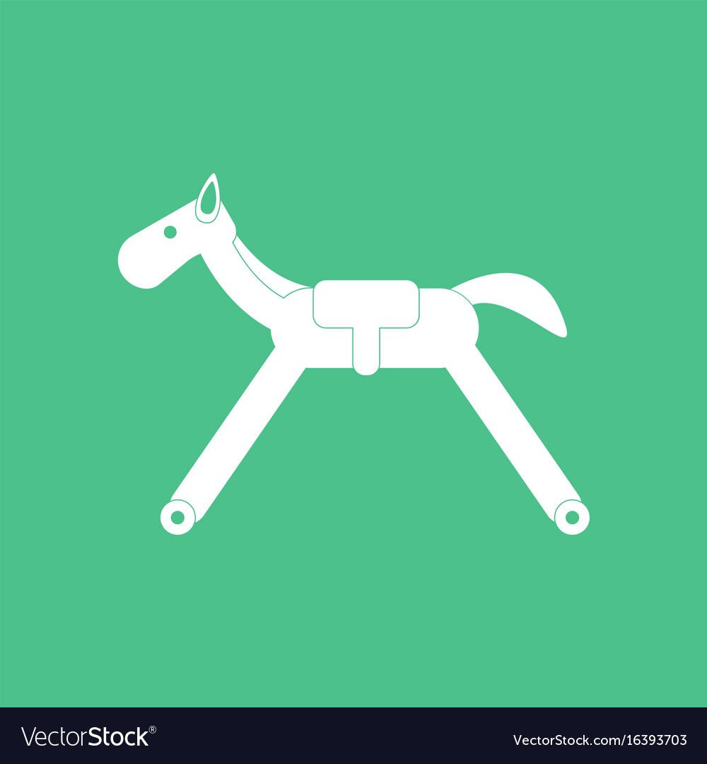 Icon on background rocking horse