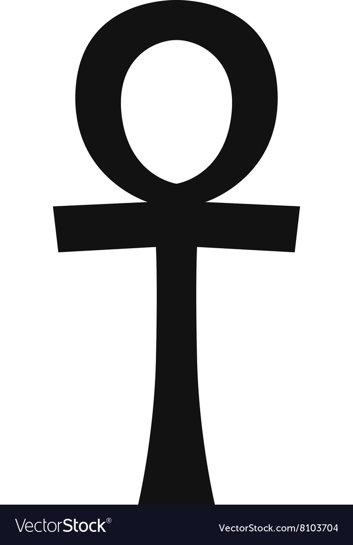 Egypt symbols Ankh Hieroglyph on white vector image