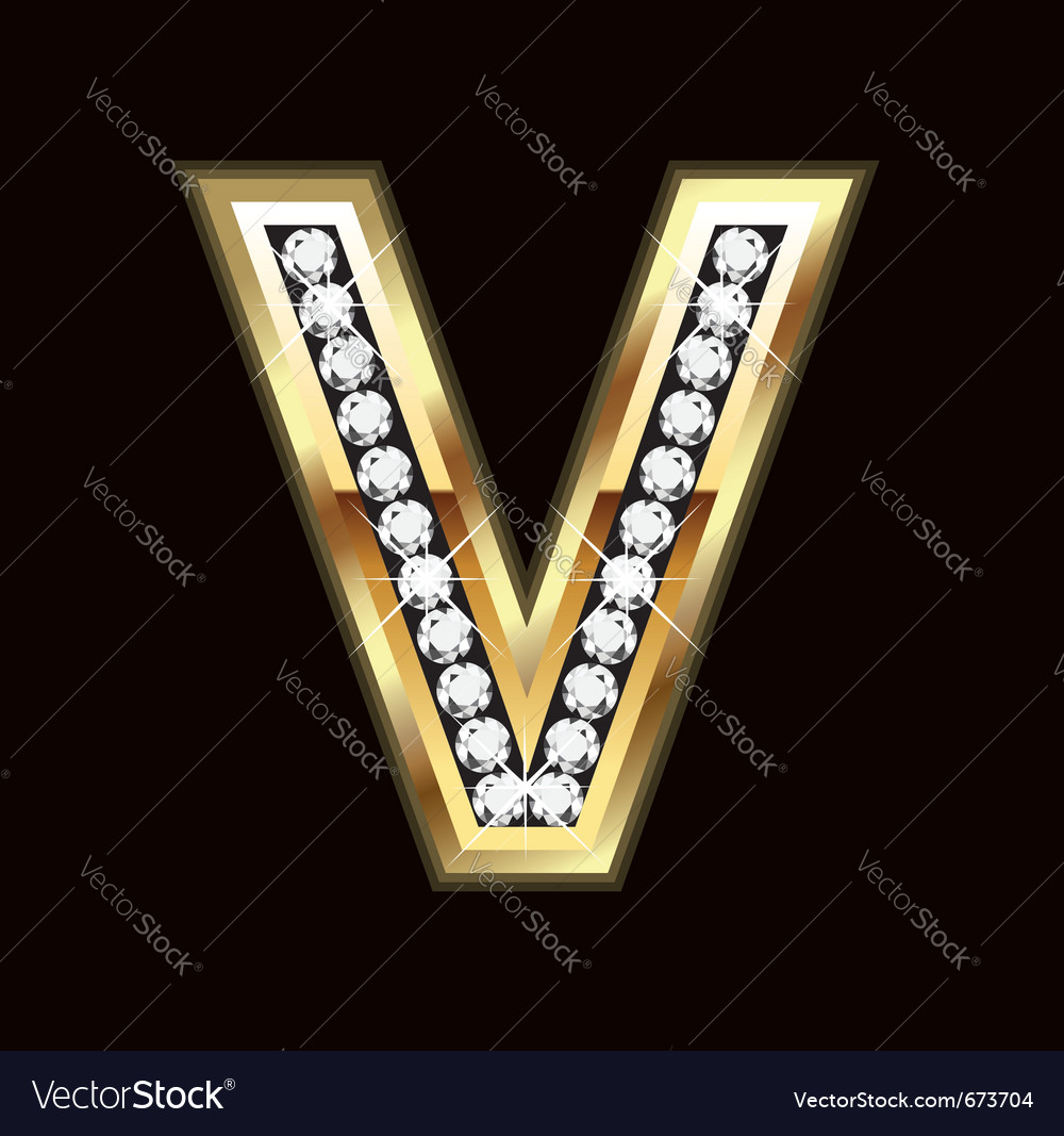 V bling vector image