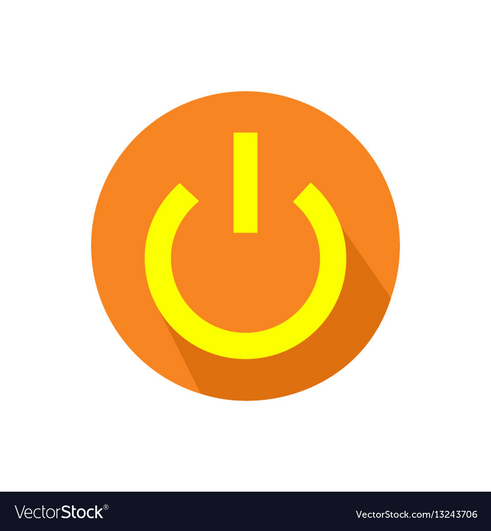 Computer power button icon on an isolated white vector image biocorpaavc Choice Image