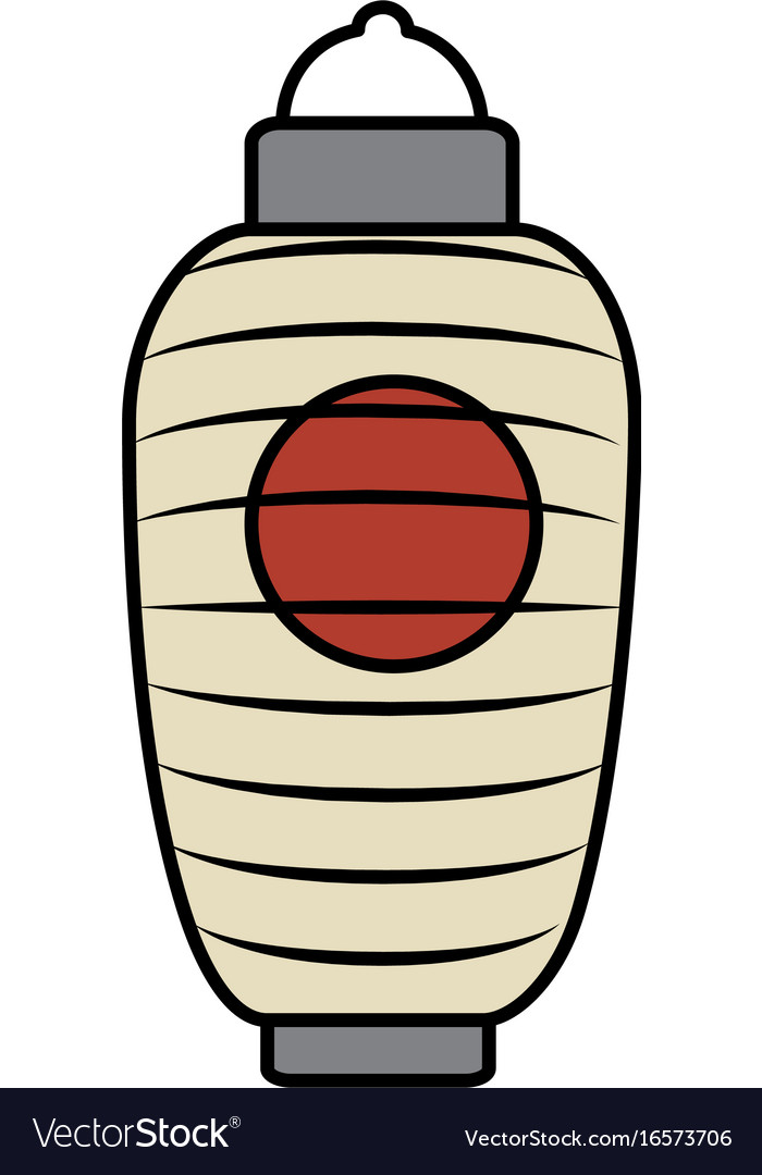 Japanese lamp isolated icon Royalty Free Vector Image for Japanese Lamp Vector  300lyp