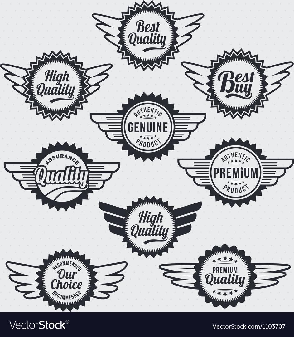 Retro vintage label Badge Set Vector Image