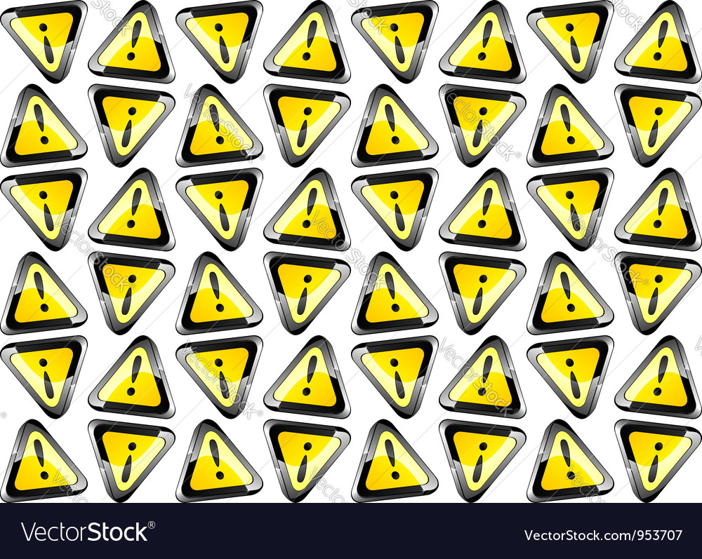 Attention signs seamless background vector image