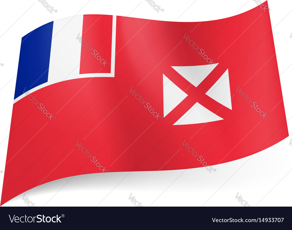 Flag of wallis and futuna french flag and white vector image