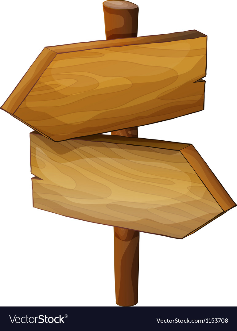 A wooden direction board vector image