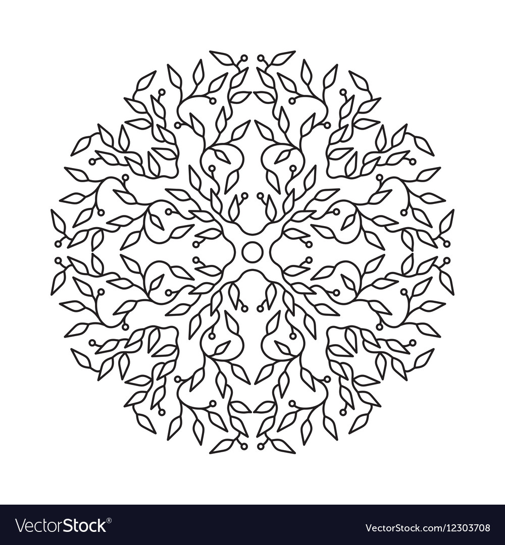 Abstract black color logo design isolated vector image