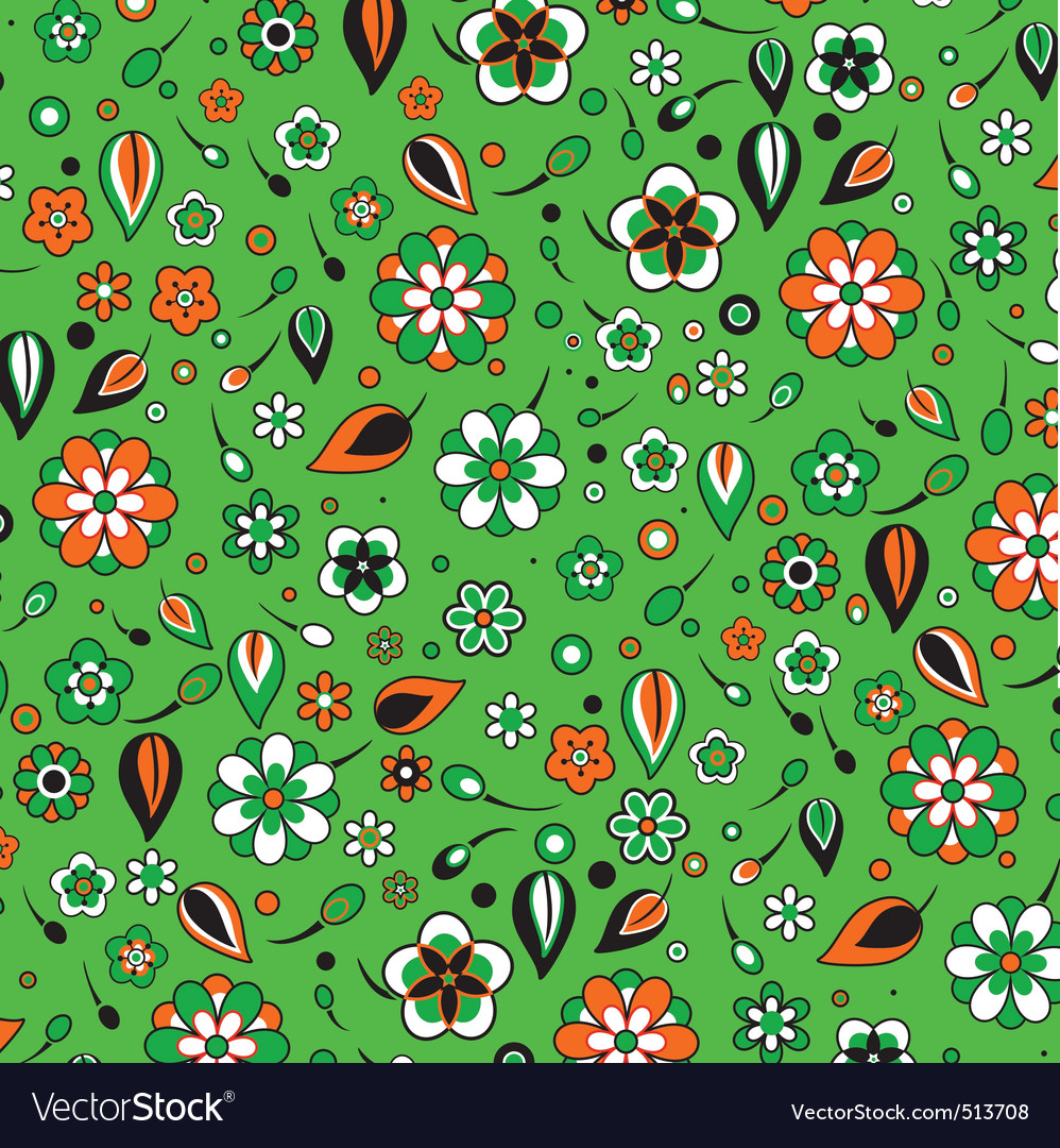 Funky flowers pattern vector image
