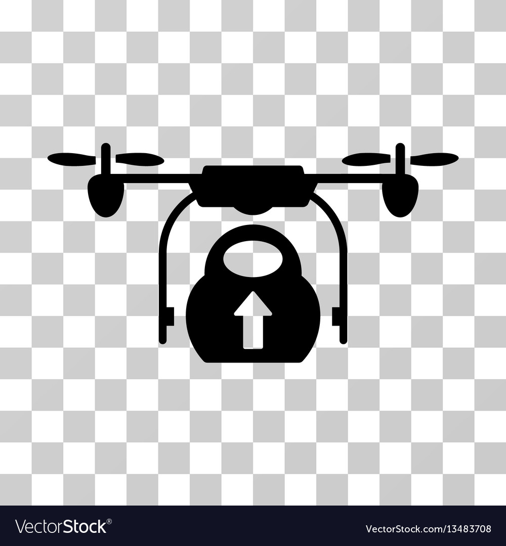 Load cargo drone icon vector image