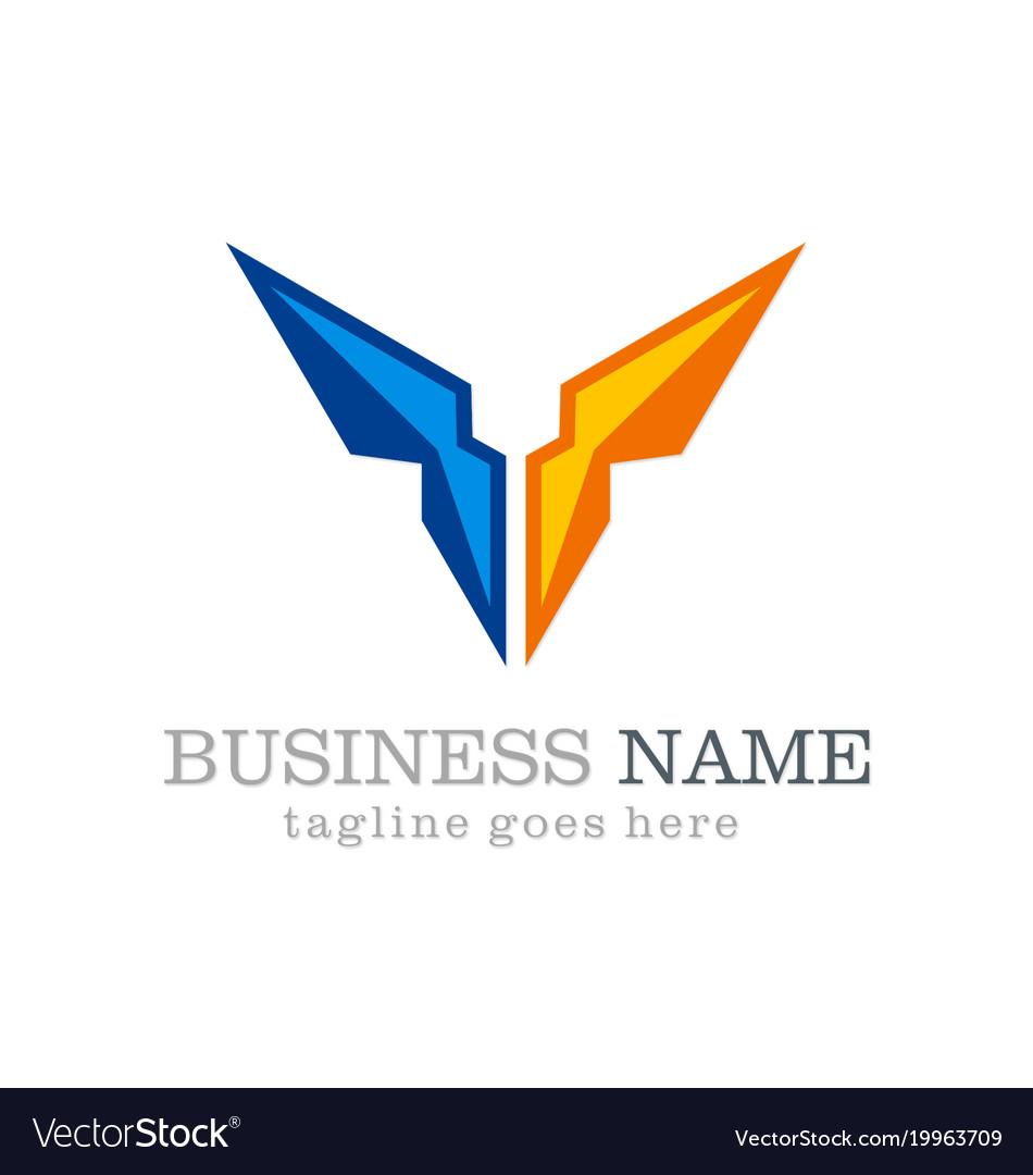 Business vision shape company logo vector image