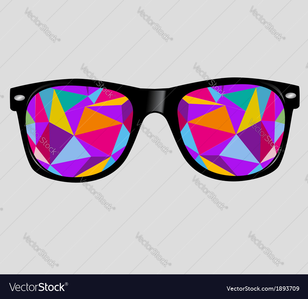 Sunglasses background vector image