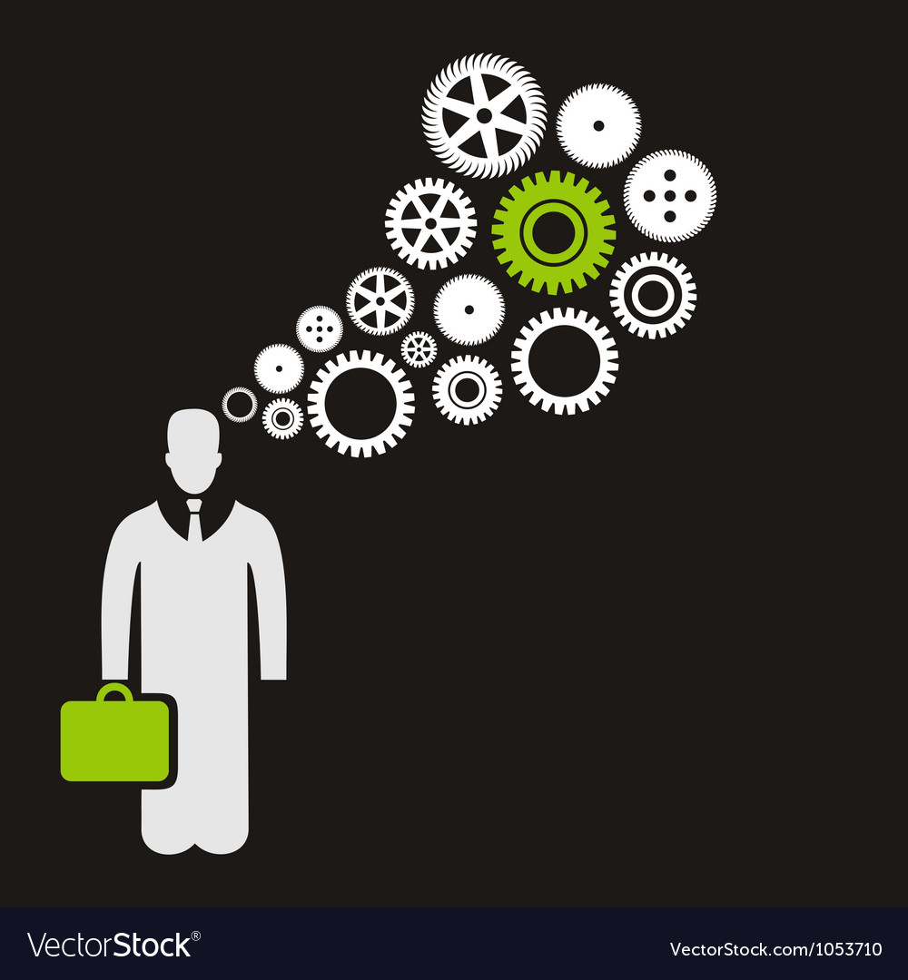 Business the person vector image