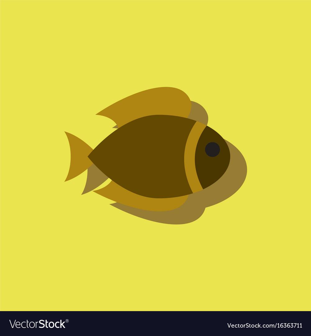 Aquarium fish silhouette fish sticker