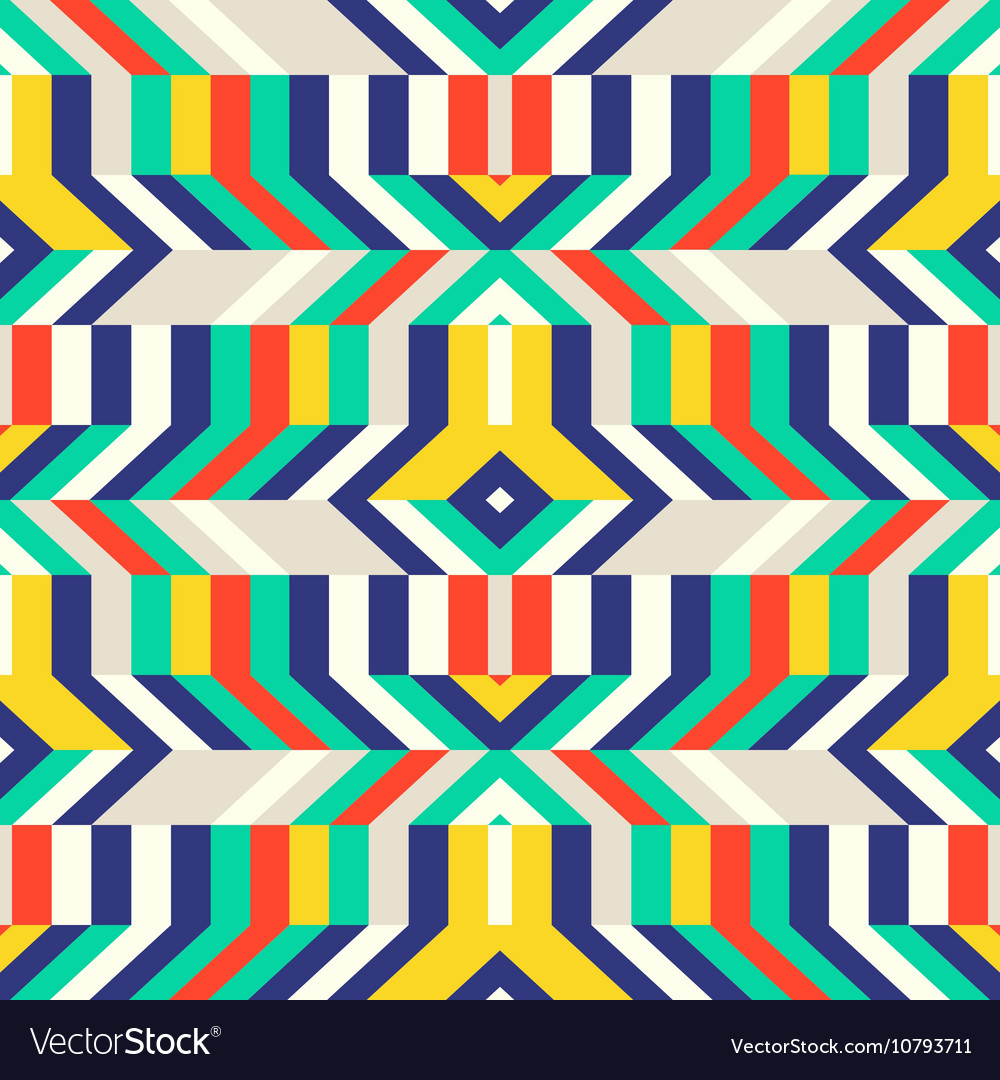 Colorful op art pattern vector image