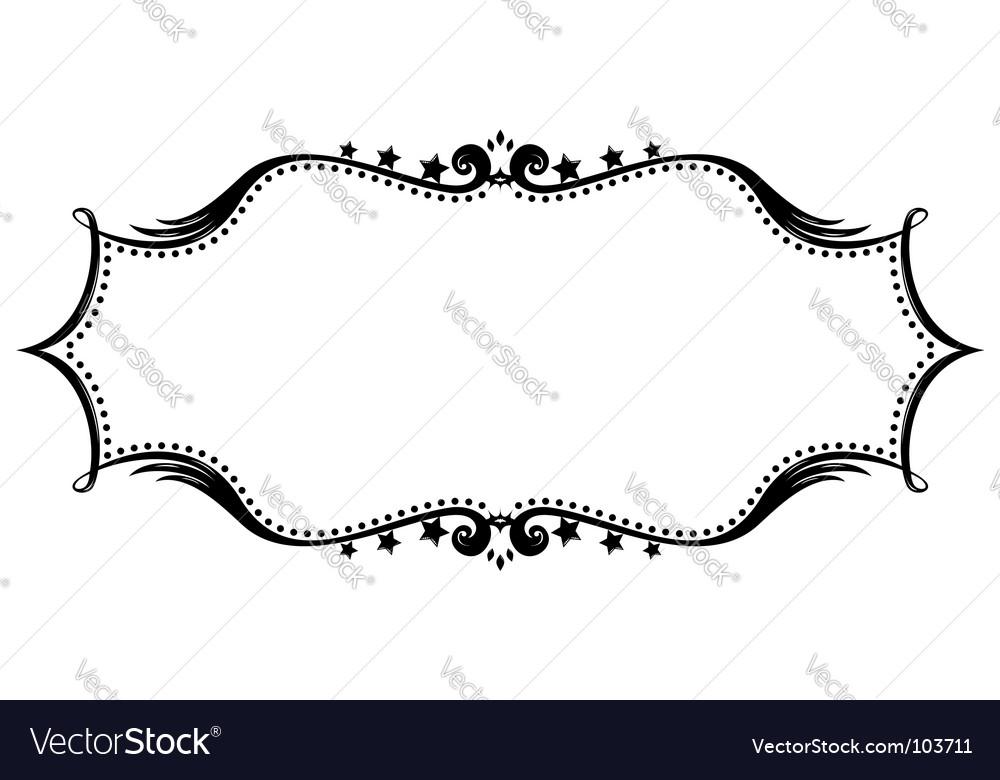 Retro frame silhouette vector image