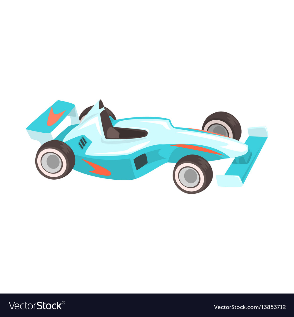 Blue sportive formula one car racing related vector image