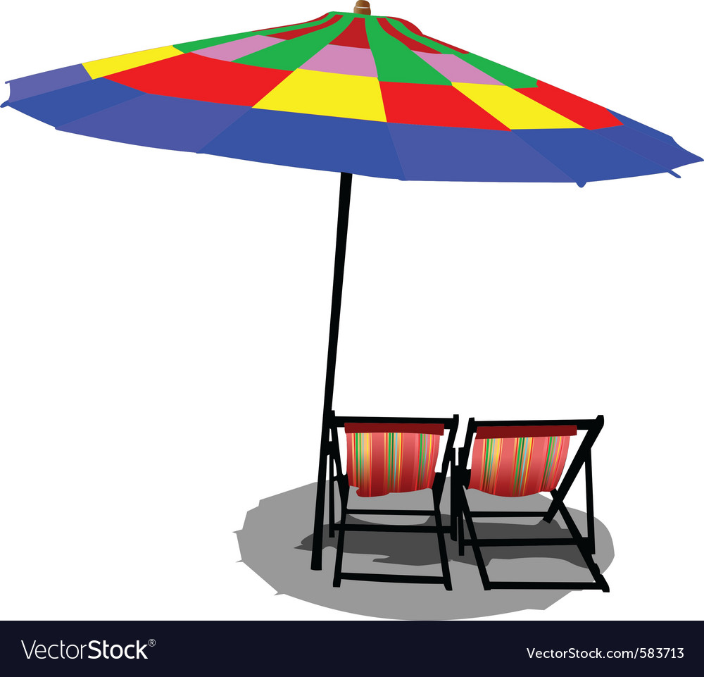 Beach chairs vector image