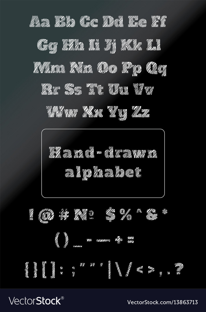 Chalk alphabet with numbers vector image