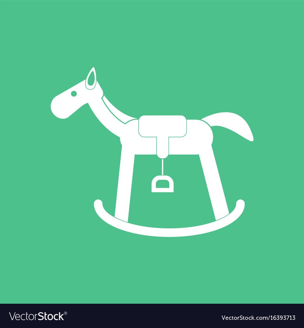 Icon on background kids rocking horse