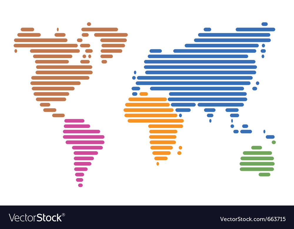 World map royalty free vector image vectorstock world map vector image sciox Images