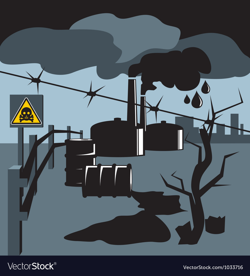 Bad ecology001 vector image