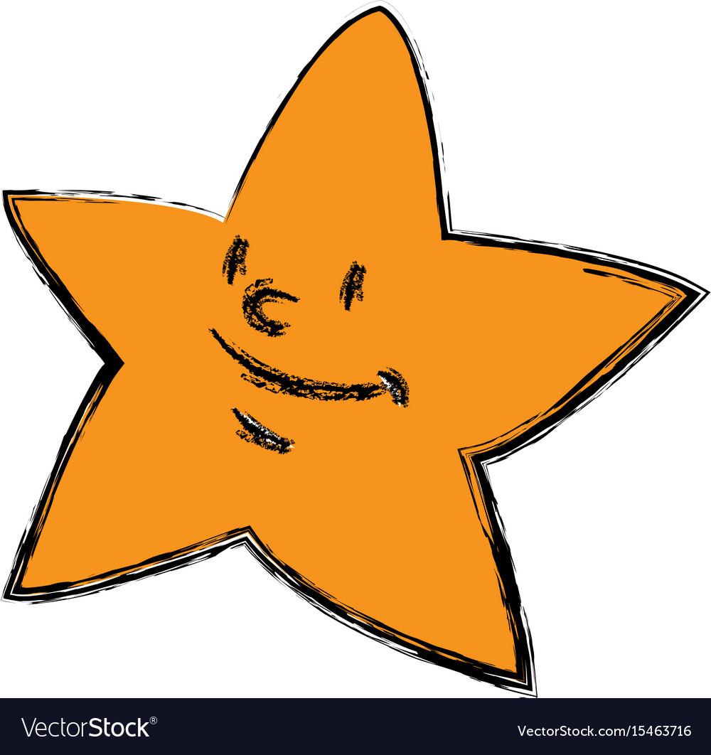Cartoon star smile light night icon vector image