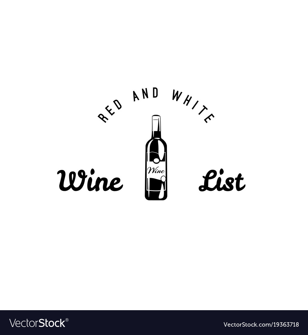 Set of wine black and white labels wine vector image
