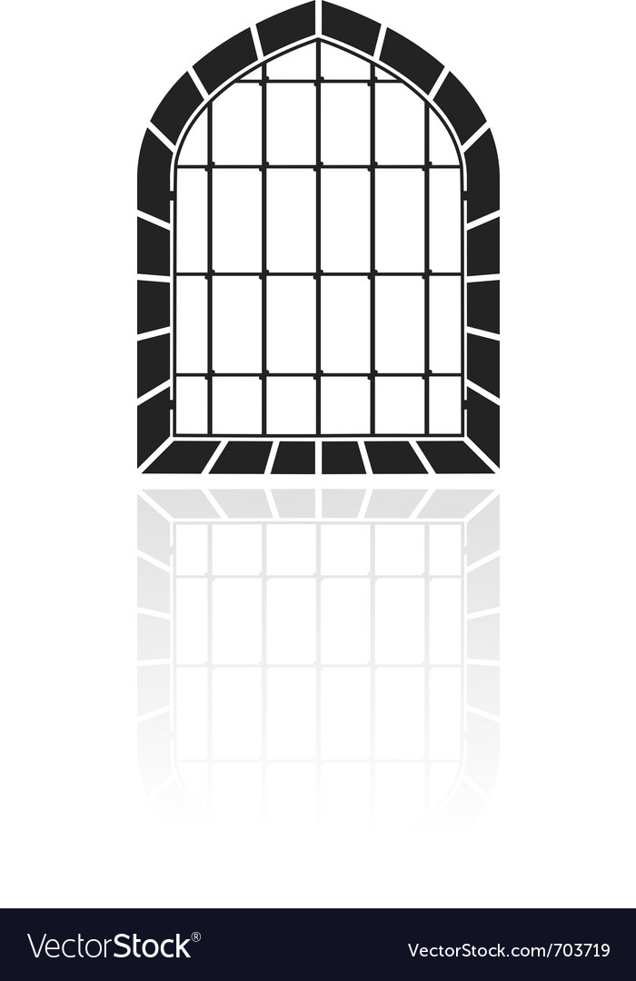 Window with bars vector image