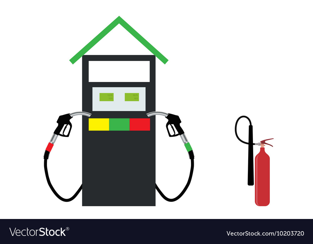 Filling Gun on Refueling the Car and fire vector image