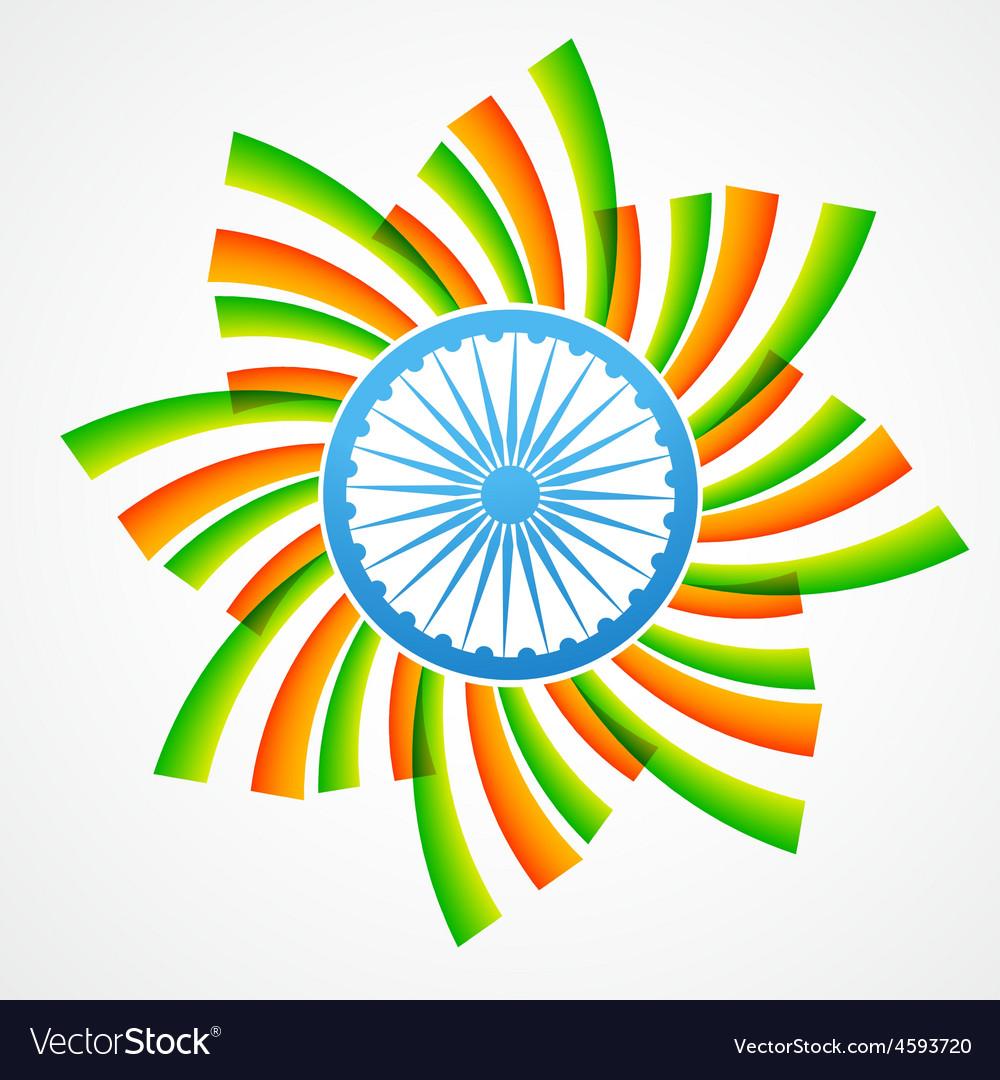 Stylish indian flag vector image