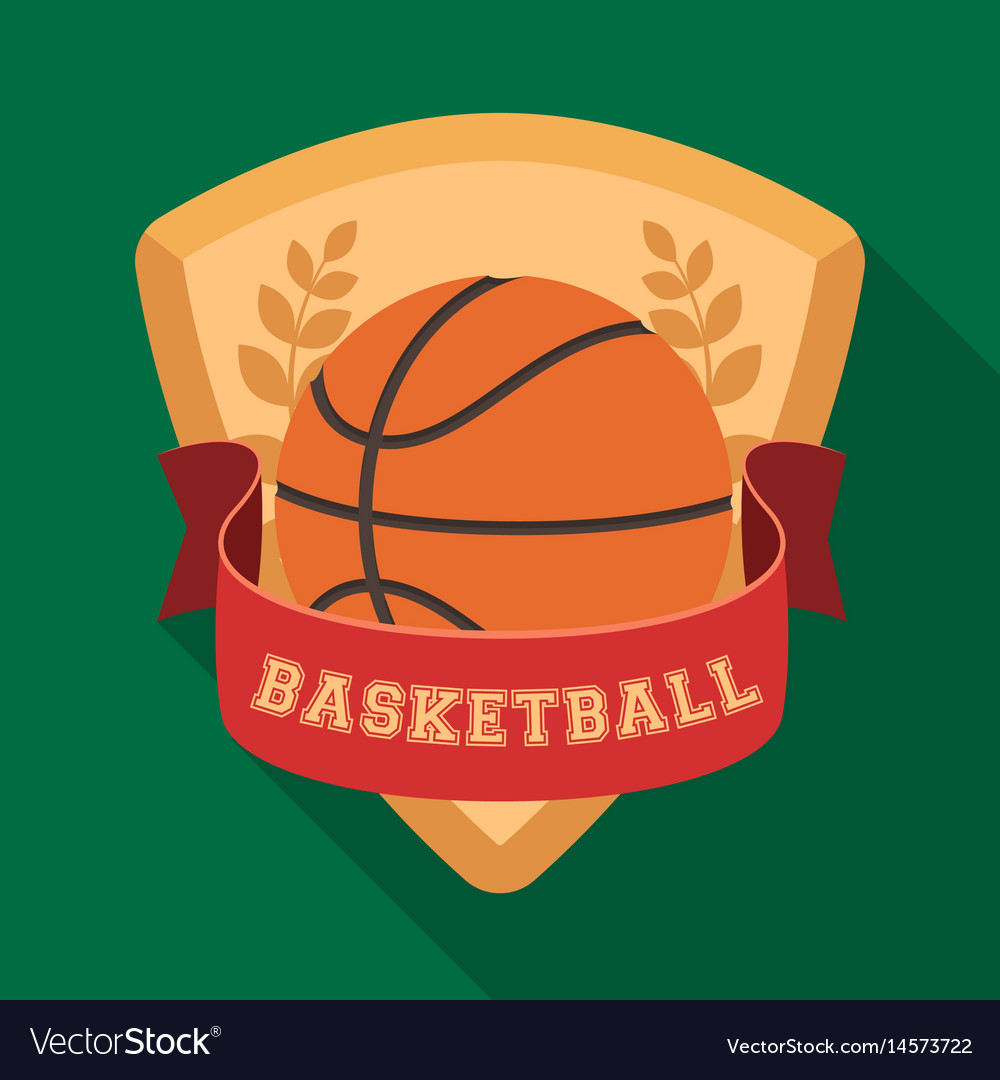 Basketball emblembasketball single icon in flat vector image