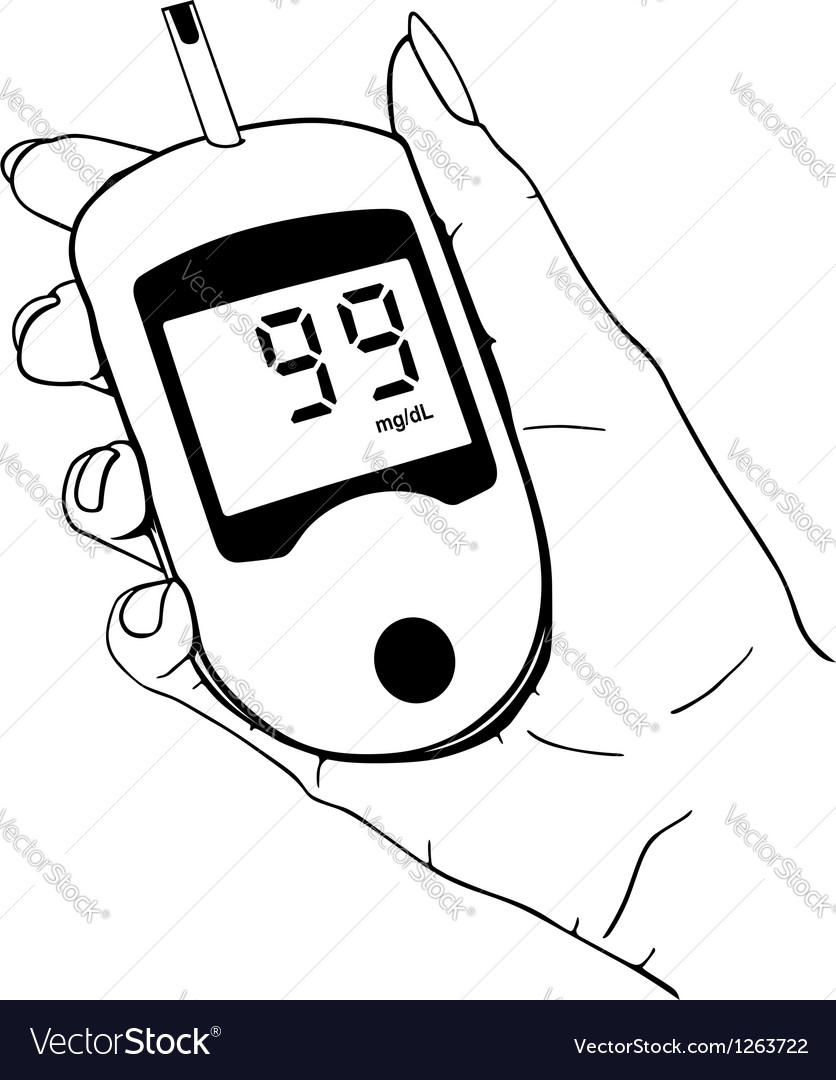 Home glucose meter vector image